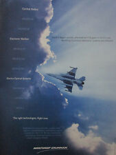 4/1999 PUB NORTHROP GRUMMAN F-16 RADAR ELECTRO-OPTICAL SYSTEMS ELECTRONIC WAR AD