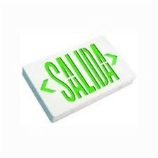 Ciata Lighting - LED Thermoplastic Salida Sign, Green/White with Battery Backup