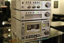 VINTAGE MINI STEREOANLAGE FISHER FM-M100 TUNER CA-M100 VERSTÄRKER CR-M100 KASSET