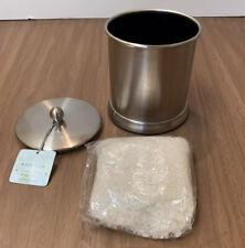 Bath Salts In Silver Jar w/lid - Bath Soak, Ocean Water Fragance