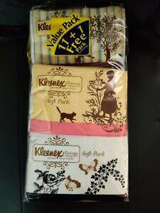 Kleenex Vintage Facial tissues *Soft pack 50 sheets 2 PLY 100% Virgin fibers.