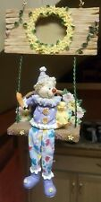 Young Clown On A Swing Clown Collectible To Hang Or Sit With Picture frame New