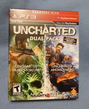 Uncharted Dual Pack (Sony PlayStation 3, 2011) - adult owned!