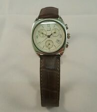 ALFRED DUNHILL CHRNO 142  QUARTZ WATCH A/D LEATHER STRAP