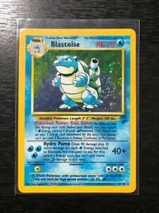 Blastoise 2/130 - Holo 1999 Base Set 2 Pokemon Card NM/LP