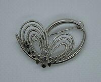 Vintage modernist silver brooch marked sterling Germany