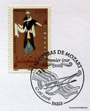 MOZART ENLEVEMENT SERAIL FRANCE Yt3922 OBLITERATION 1er JOUR NOTICE PHILATELIQUE