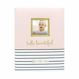 Beautiful First 5 Years Baby Memory Book with Photo Insert Baby Shower Gift Pink