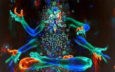 """Psychedelic Trippy Art Fabric Cloth Rolled Wall Poster Print -- Size: 40"""" x 24"""""""