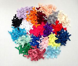 Satin Ribbon Bows Wedding Craft Sewing 7mm Pk 20 50 100 - Colours or Mixed Packs