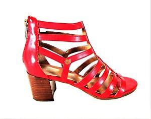 Tommy Hilfiger Red Gladiator Block Heel Open Toe Sandals Women's 8 M (SW10)