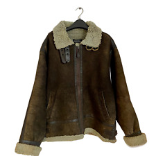 Vintage Aviator B3 Flight Men's Leather Air Force Pilot Shearling Bomber Jacket