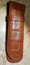 Mulberry Leder Etui für 2 Schreibgeräte in Braun geprägt