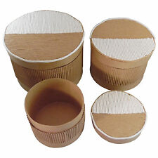 Geschenk - Schachtel / Box 3er Set Rund Ø9x7,5 + Ø11,5x8,5 + Ø13,5x11,5 cm