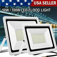50W 100W LED Flood Light Outdoor Garden Security Spot Lamp Waterproof Dimmable