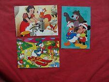 rare lot 3 old Postcard Walt Disney Disneyland Vintage from israel snow white