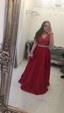 Red joviana prom dress, bought from red carpet ready, size 12