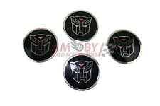 Emblem 60mm Autobot Badges Sticker Set of 4 Rims Stickers Wheel Cover Hub Caps