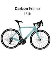 HeartsBio Carbon Road Bike - 18lb  Size 54