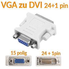 VGA zu DVI-I Adapter Digital auf Analog PC Monitoradapter Beamer Kontakte 24+5