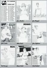 1970 Topps 9 Uncut Proof Sheet Hunter 7th Checklist