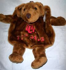 Oklahoma University Pajama Bag In the Shape of a Dog New