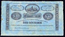 Haiti 10 Gourdes 1827  P-36  sie D