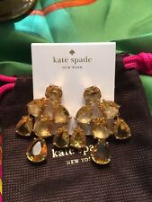 STUNNING Kate Spade Champagne Crystals Chandelier Statement Earrings