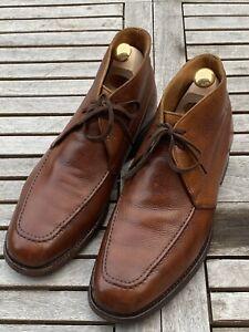 Crockett Jones Chukka Tetbury Boot 9 E Tan Scotchgrain Dainite Sole Handmade
