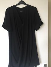 Topshop Black Drape Dress Size 12