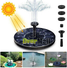 PREMIUM Outdoor Solar Powered Fountain Water Pump Floating Garden Bird Bath Kits