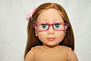 """For American Girl Dolls Our Generation Journey 18"""" Doll Clothes Purple Glasses"""