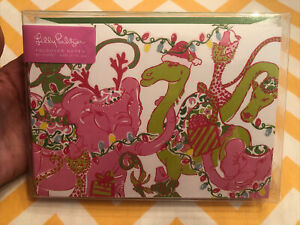 LILLY PULITZER Foldover Notes Holiday Cards Twinkle Pack of 10 Cards Christmas