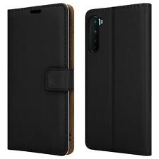 For OnePlus Nord 5G Case Slim Leather Wallet Phone Cover + Screen Tempered Glass