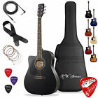 Thinline Cutaway Acoustic Electric Guitar with Gig Bag - Left Handed