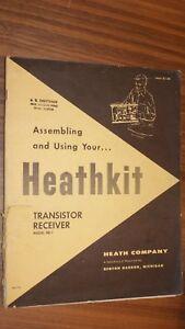 Heathkit Assembly Manual for Transistor Receiver Model XR-1