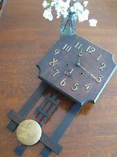 Antique Sessions Arts & Crafts Oak Wall Clock