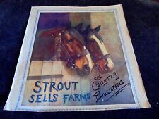 R. Atkinson Fox, Work Horses In Barn, Strout Sells Farms, Cal. Large Print 1920s