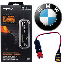 BMW CTEK MUS 4.3 Battery Charger Tender Conditioner & Adapter