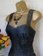 "****KAREN MILLEN BNWT ""DARK DENIM"" DRESS DJ111 SIZE 14****"