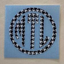 Houndstooth Circle Monogram Vinyl Decal Sticker for Yeti Tumbler iPhone