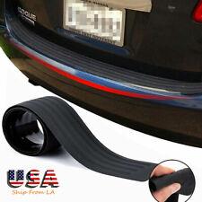 1x Universal Car Sill Plate Bumper Guard Trunk Protector Rubber Pad Trim Cover