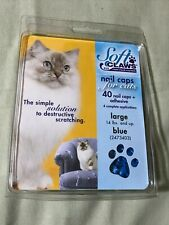 Feline Soft Claws Cat Nail Caps Take-Home Kit, Large, Blue 2473403