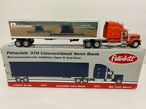 Vintage 1994 SpecCast diecast 379 Peterbilt semi truck AGCO Gleaner combine