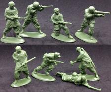 Mars - WWII German Paratroops - set of 15 54mm unpainted plastic toy soldiers
