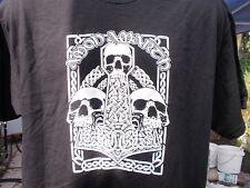 amon amarth skull  thors hammer long sleeve t shirt black lrg. slayer metal