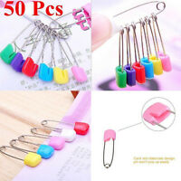 50pcs Plastic Head Safety nappy Locking Baby Cloth Diaper Pins New Fashion Pins