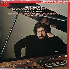 "BEETHOVEN Piano Concerto n.5 ""Emperor"" LUPU/MEHTA Decca SXDL 7503 LP"