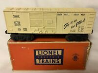 ✅LIONEL POSTWAR 6014-60 FRISCO WHITE BOXCAR 1958 IN ORIGINAL BOX VINTAGE TRAIN