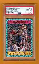 LeBRON JAMES 2017-18 NBA HOOPS TEAL EXPLOSION SP PSA 10 GEM MINT  POP 1  CAVS